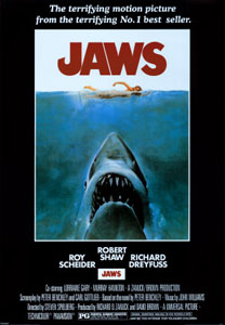 Poster for the 1975 movie JAWS